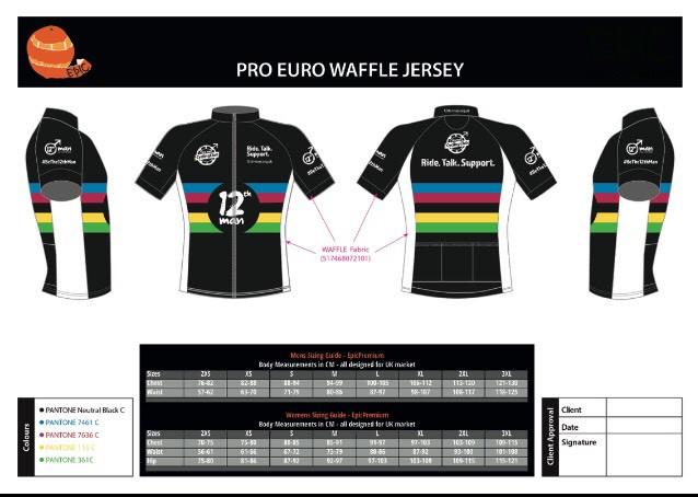 12th Man Cycling Club Jersey (Black)