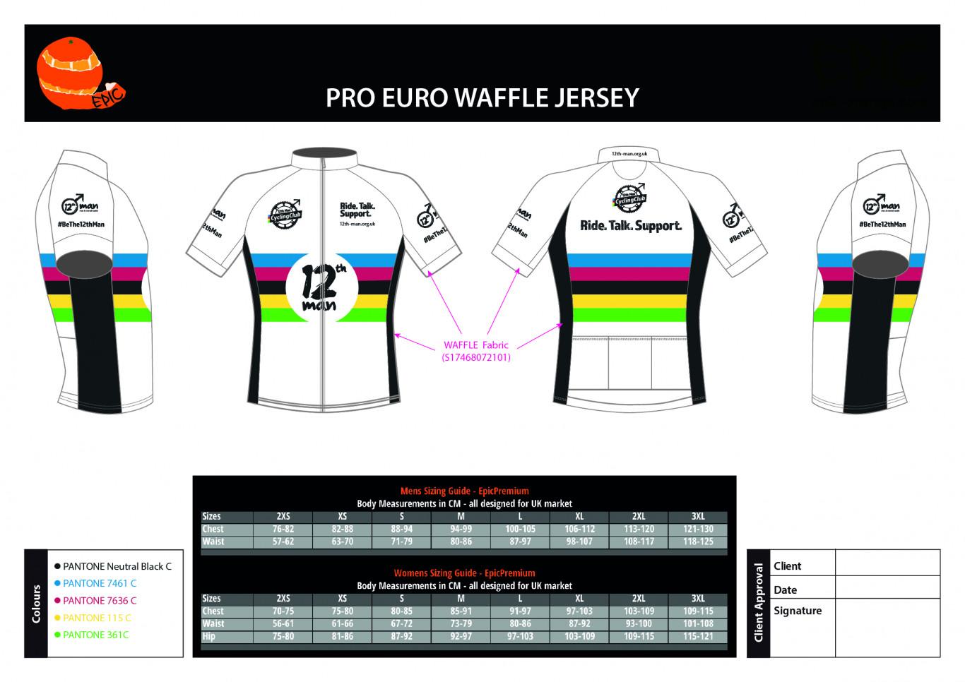 12th Man Cycling Club Jersey (White)